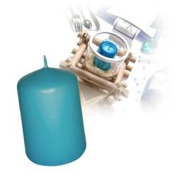 Bougie cylindre moyenne turquoise