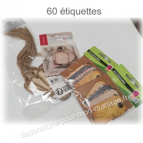 Etiquettes dragées x60