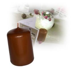 Bougie cylindre moyenne marron