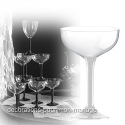 Coupe champagne pied blanc