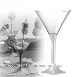 Coupe cocktail blanc perlé