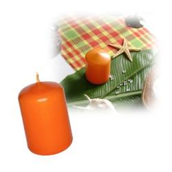 Bougie cylindre petite orange