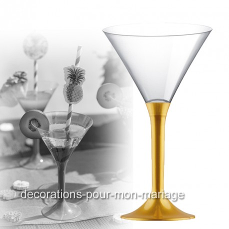 coupe cocktail pied en or