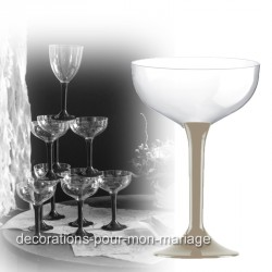 Coupe de champagne jetable pied taupe