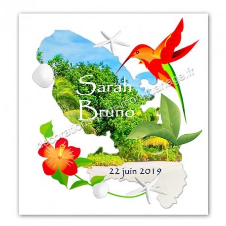 Faire-part carte Martinique