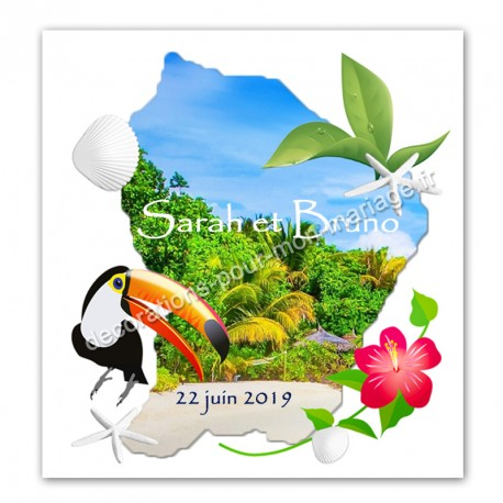 Faire-part carte Guyane