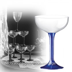 Coupe de champagne jetable pied marine