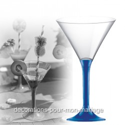 Coupe cocktail bleu roi