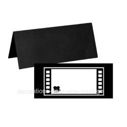 10 porte-noms noir cinéma caméra
