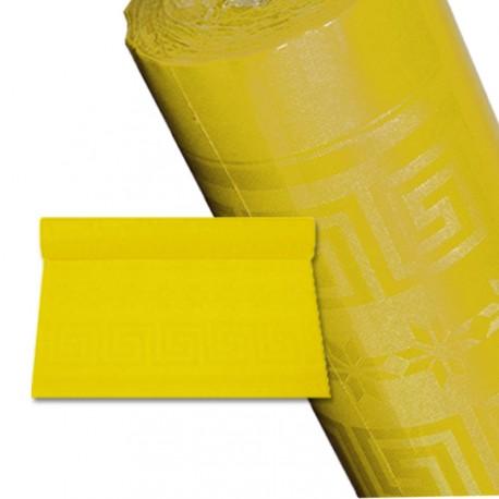 Nappe papier 25 m jaune