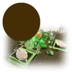 Nappe ronde 240 cm marron