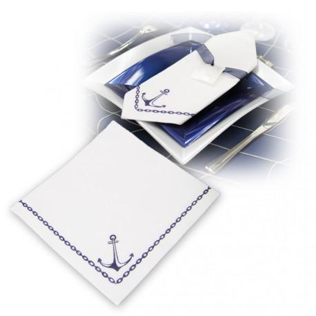 serviette motif ancre marine