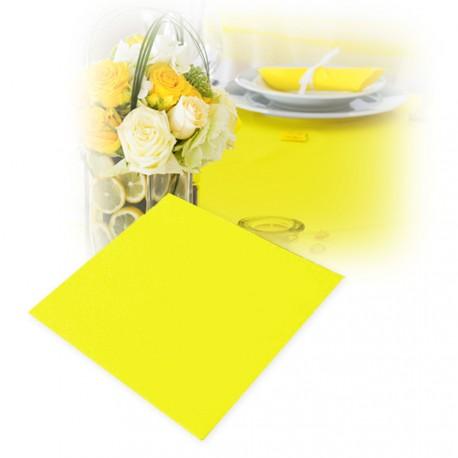 Serviettes intissées jaune