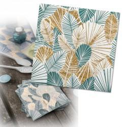 serviettes tropical métal x20