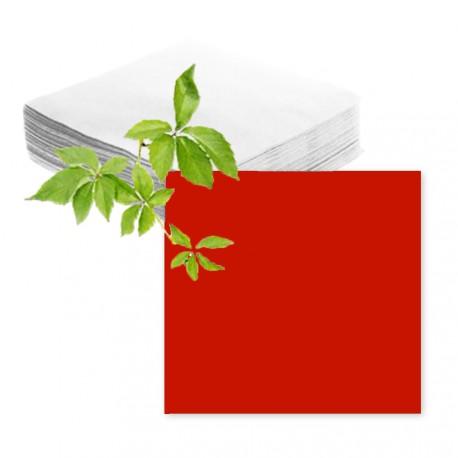 100 serviettes papier rouges