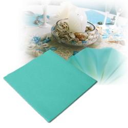 Serviettes intissées turquoise