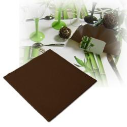 Serviettes intissées marron