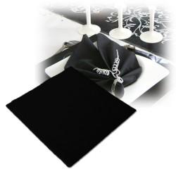 25 serviettes intissées noires