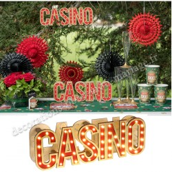Décor casino lumineux