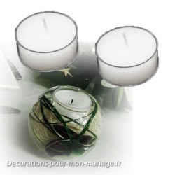 6 bougies chauffe-plat blanches