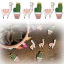 18 confettis lama et cactus
