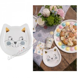 Assiette Kitty party x10