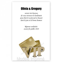 Invitation repas VIP or impression