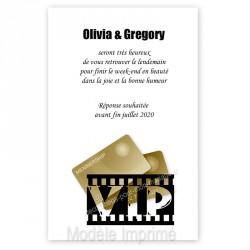 Invitation repas VIP noir et or impression