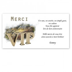 Remerciement VIP or