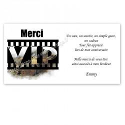 Remerciement VIP noir et or