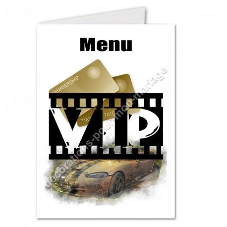 Menu VIP noir et or