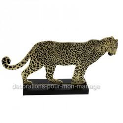 centre deco jungle léopard