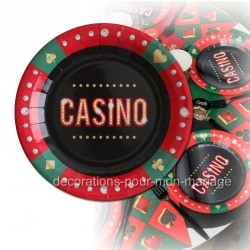 assiette casino x10