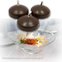 4 bougies flottantes marron