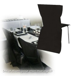 Housse de chaise jetable noire