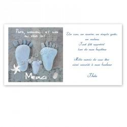 Remerciement pieds marins
