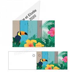 étiquette dragées toucan
