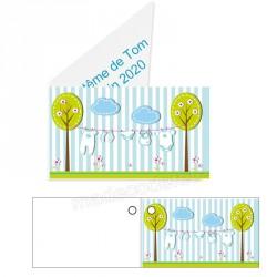 étiquette dragées baby shower bleu