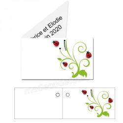 étiquette dragées champêtre
