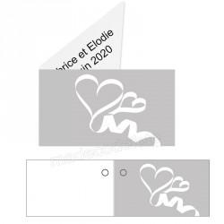 étiquette dragées coeurs blancs
