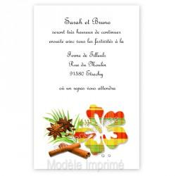 Invitation repas hibiscus jaune