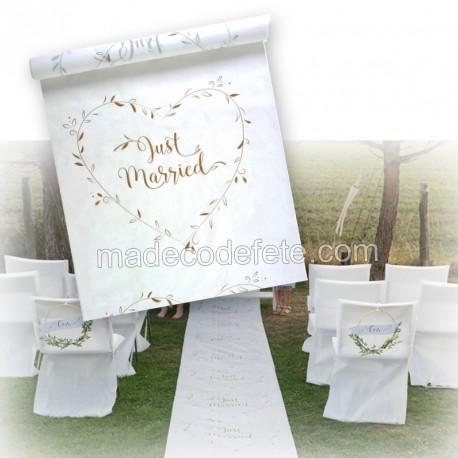 Tapis cérémonie de mariage