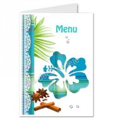 menu déco hibiscus bleu