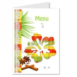 menu déco hibiscus jaune