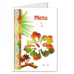 menu déco hibiscus rouge