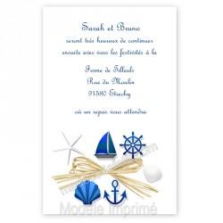 Invitation repas mer et jute