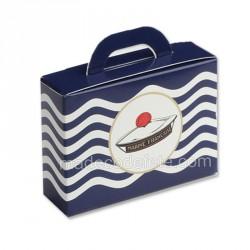 Valise pour dragées marin