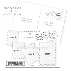 Faire-part carnet de route