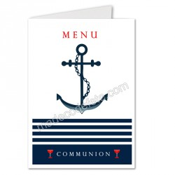 menu déco marin communion