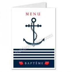 menu déco marin baptême